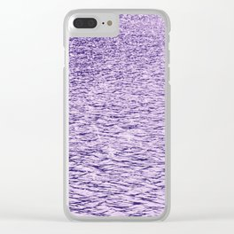Ultra Violet Glittering Wavy Pattern   Trendy Color of year 2018 Clear iPhone Case