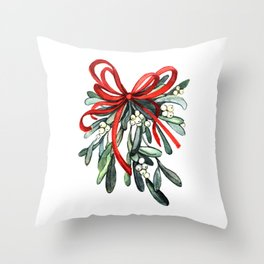 Branch of mistletoe Throw Pillow