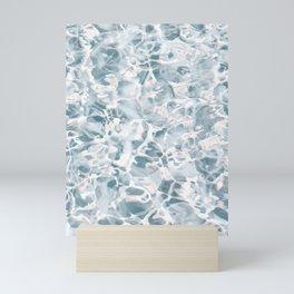 Marbled Water Nature Abstract Muted #artprints #decor #society6 Mini Art Print