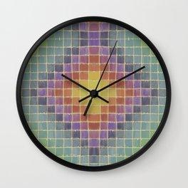 Chromatic Patchwork  Wall Clock