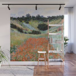 Poppy Field in a Hollow near Giverny by Claude Monet Wall Mural
