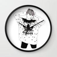 michael scott Wall Clocks featuring Scott by Les Gutiérrez