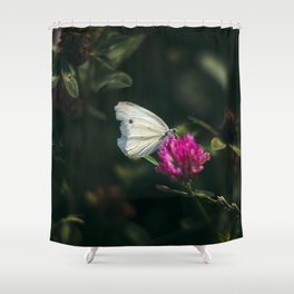 flower photography by Ed Leszczynskl Shower Curtain