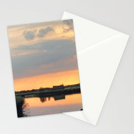 Sunset at horsey mere Stationery Cards