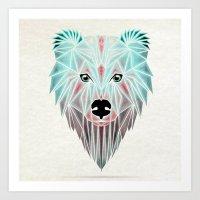 polar bear Art Prints featuring polar bear by Manoou