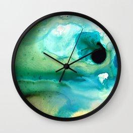 Peaceful Understanding - Abstract Art By Sharon Cummings Wall Clock
