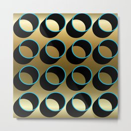 Tubes on Gold Metal Print