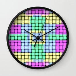 Beautiful Pastel Weave Texture Wall Clock
