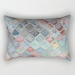 Colorful Abstract Tiles Rectangular Pillow