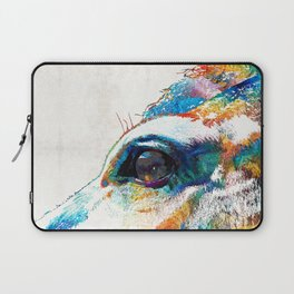 Colorful Horse Art - A Gentle Sol - Sharon Cummings Laptop Sleeve