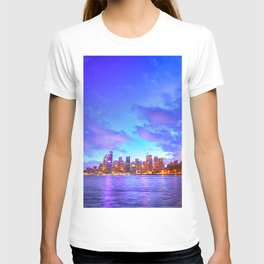 Famous Sydney City Harbour Bridge At Romantic Evening Red Opera House Australia Ultra HD T-shirt