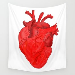 Passion red heart Wall Tapestry