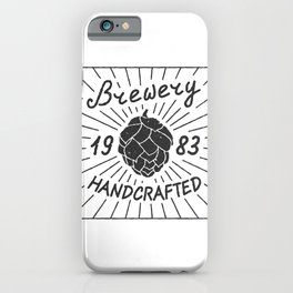 Brewery Handcrafted Fashion Modern Design Print! Beer style iPhone Case