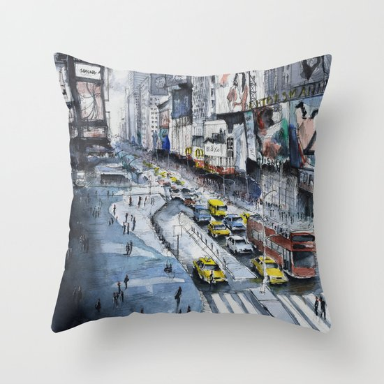 Time square - New York City Throw Pillow