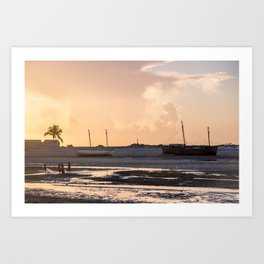 Bello sur Mer, Madagascar. Art Print