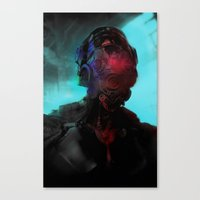 cyberpunk Canvas Prints featuring Cyberpunk #2 by Lunaramour