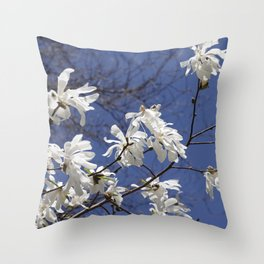 Star filled sky (Star Magnolia flowers!)      Edit Throw Pillow