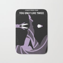 No277-007 My You Only Live Twice minimal movie poster Bath Mat