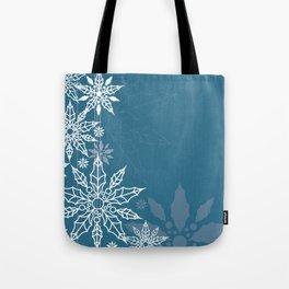 Holly tree snowflake Tote Bag