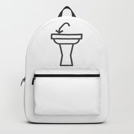 Faucet and sink bathroom elements in Design Fashion Modern Style Illustration Backpack