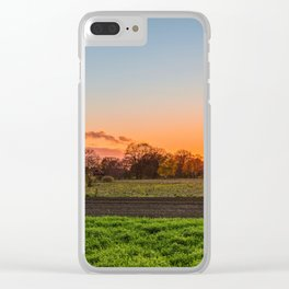 Green Grass Field Clear iPhone Case
