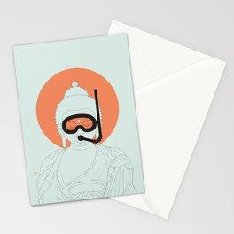 Buddha : Take A Deep Breath! Stationery Cards