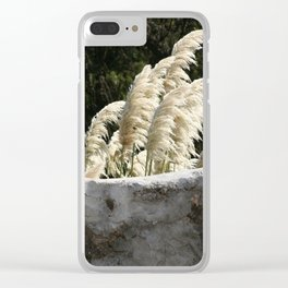 Flowering Pampas Grass Plumes Clear iPhone Case