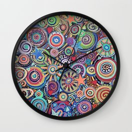 Seeing Stars Abstract  Painting Wall Clock