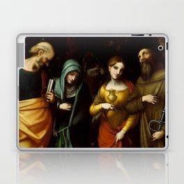 "Antonio Allegri da Correggio ""Saints Peter, Martha, Mary Magdalen, and Leonard"" Laptop & iPad Skin"