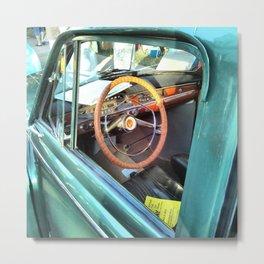 Classic Car Window Metal Print