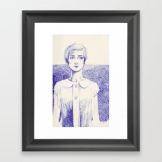 Short Lines Framed Art Print