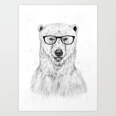 Geek bear Art Print