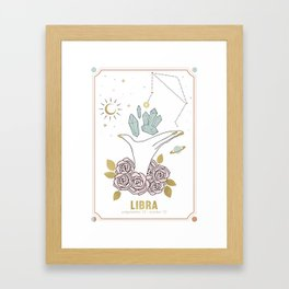 Libra Zodiac Series Framed Art Print
