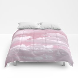 Clouds in a Pink Sky Comforters