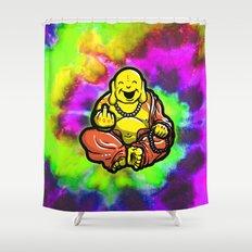 F U Buddha  Shower Curtain