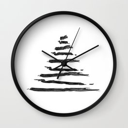 Modern Christmas Tree Wall Clock