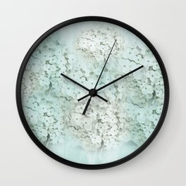 SHADY HYDRANGEAS Wall Clock