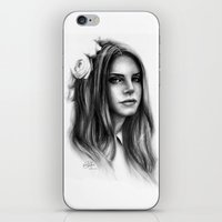 lana iPhone & iPod Skins featuring LANA by Laura Catrinella