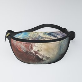 Planet Pluto Deep Space Space Craft Pass By Telescopic Photograph Fanny Pack