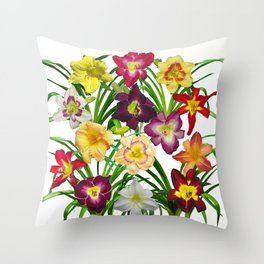 Display of daylilies I Throw Pillow