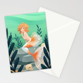 Veiltail Mermaid Stationery Cards