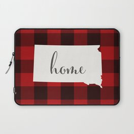 South Dakota is Home - Buffalo Check Plaid Laptop Sleeve