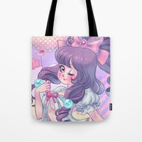 lolita Tote Bags featuring Lolita by Pich illustration