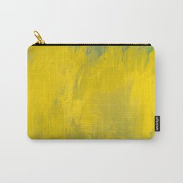 Jubilant 12 - Abstract Modern - Sunshine Yellow Gold Sage Green Carry-All Pouch