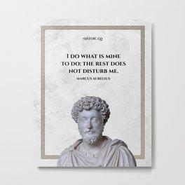 Marcus Aurelius Quote #2 Metal Print