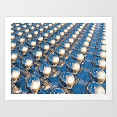 Abstract Spheres In A Row Art Print