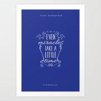 cinderella Art Prints featuring Cinderella by Nikita Gill
