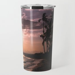 Sunset beach. San Blas, Panama Travel Mug