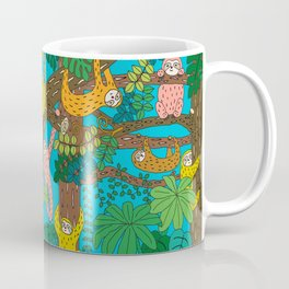 Happy Sloths Jungle Kaffeebecher