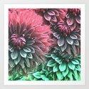 Aqua Fuchsia Floral by lauragordon